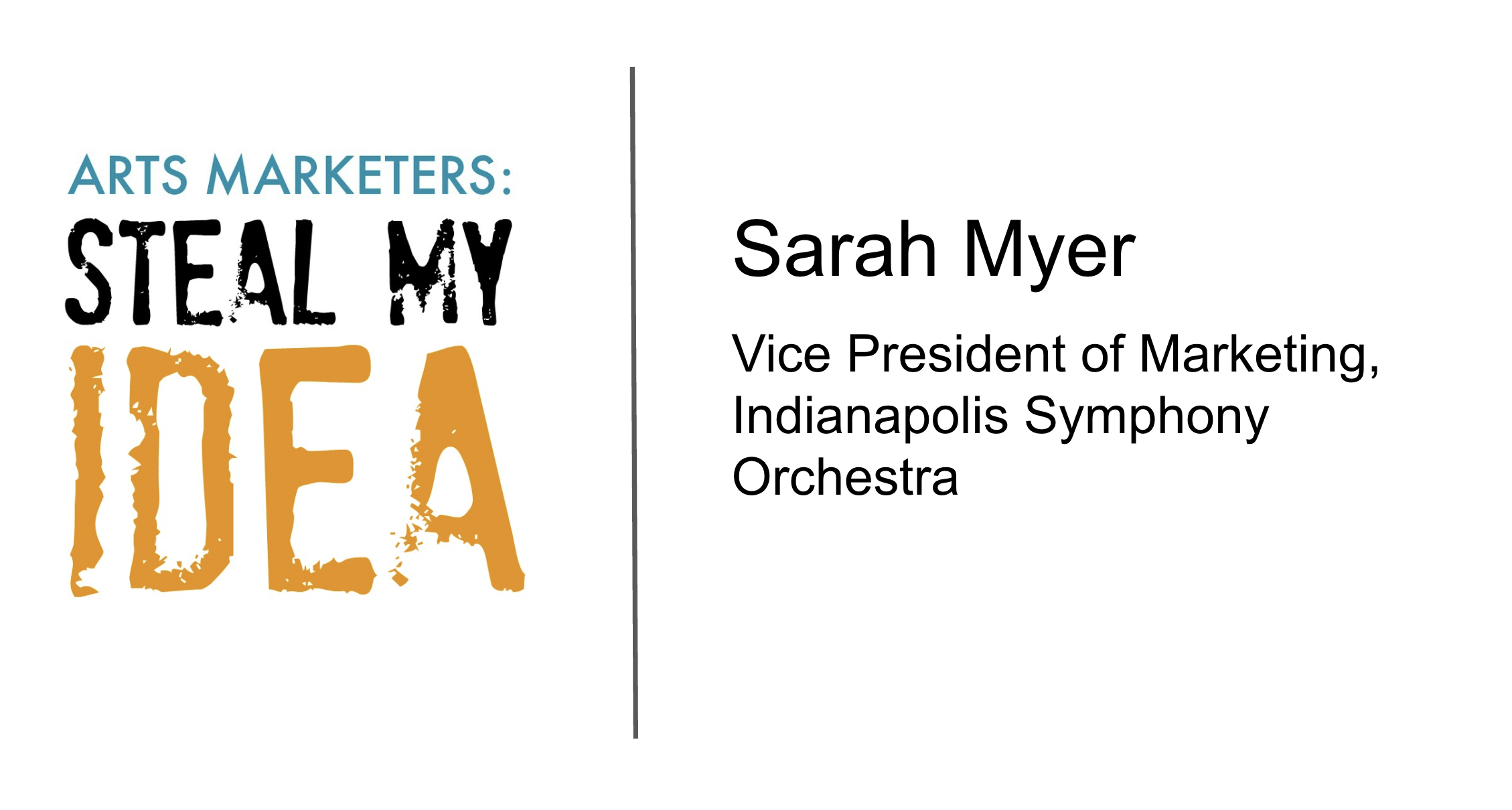 Sarah Myer - Steal My Idea
